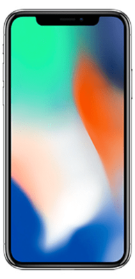 Apple iPhone X 64GB silber