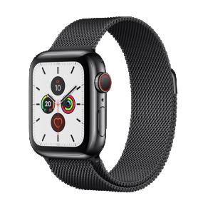Apple Watch Series 5 40mm GPS+4G Edelstahl/Milanaise-Armband