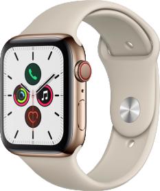 Apple Watch Series 5 44mm GPS+4G Edelstahl
