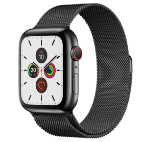 Apple Watch Series 5 44mm GPS+4G Edelstahl/Milanaise-Armband